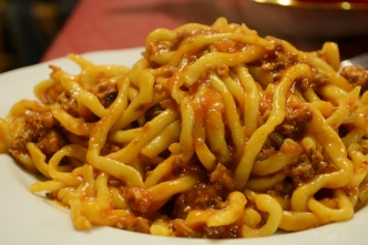Pici with Wild Boar Ragu