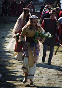 Regatta Parade: Woman with Flowers