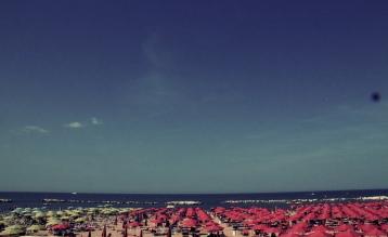 Beaches of Cattolica, Italy on the Adriatic Coastline (left)