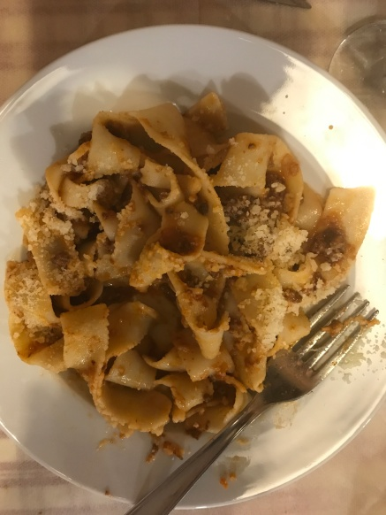 Pappardelle with Wild Boar Sauce at da Mario by Lisa Vogele